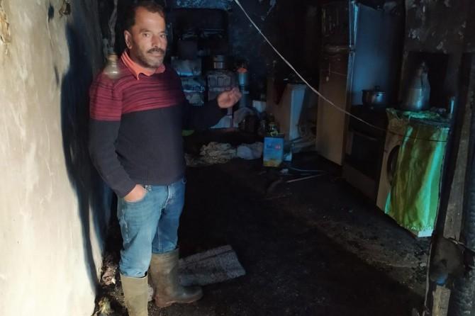 Ramazan ayında yangın sonucu evsiz kalan Erdoğan ailesi acil yardım eli bekliyor