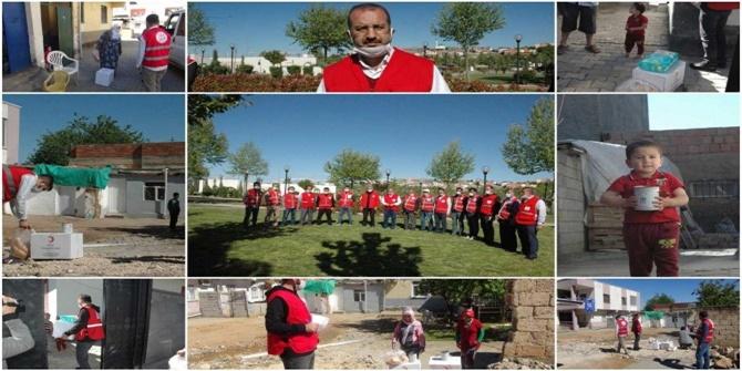 Kızılay, Çınar'da muhtaç 250 aileye yardımda bulundu