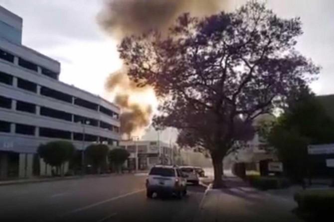 ABD'de, AVM yangınına müdahale için giden itfaiyeciler yaralandı