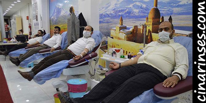 HÜDA PAR Ağrı Teşkilatından Kızılay'a kan bağışı