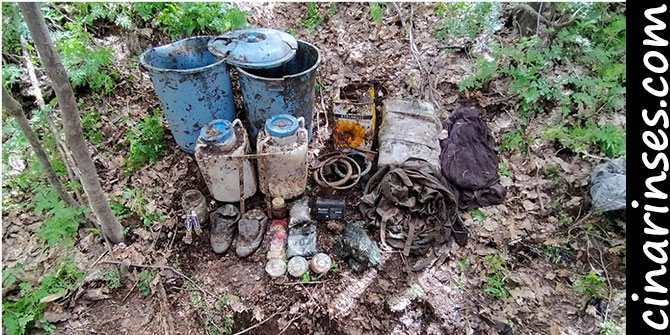 Tatvan kırsalında araziye gizlenmiş malzeme ele geçirildi
