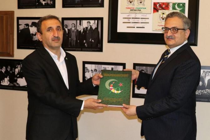 HÜDA PAR'dan Pakistan Büyükelçiliğine ziyaret