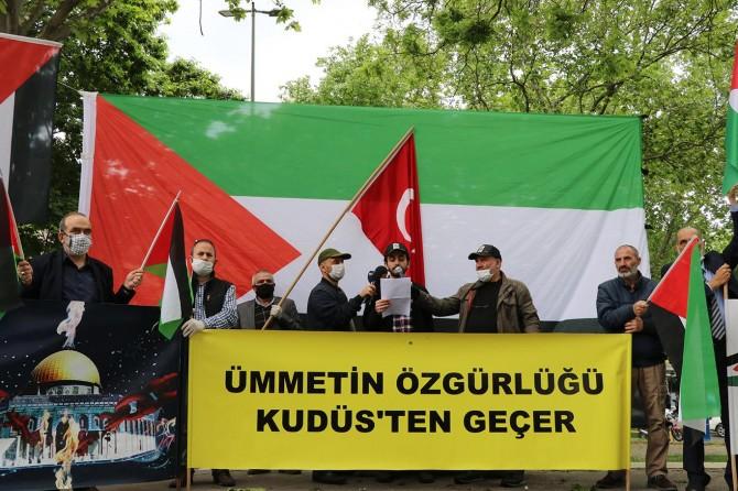İstanbul'da Dünya Kudüs Günü münasebetiyle basın açıklaması düzenlendi