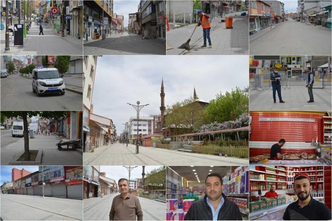 Ağrı'nın cadde ve sokakları sokağa çıkma yasağı nedeni ile boş kaldı