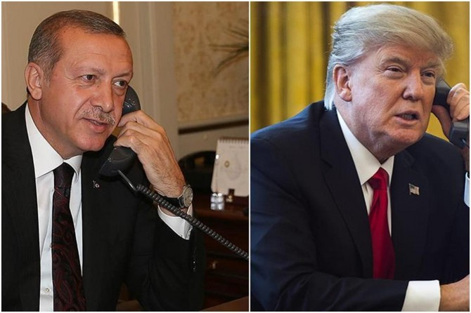 Erdoğan holds a phone conversation with US President Trump