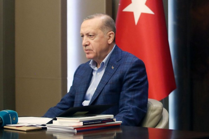 """Erdoğan: """"Salgınla mücadelede elde ettiğimiz kazanımları ileriye taşımamız şart"""""""