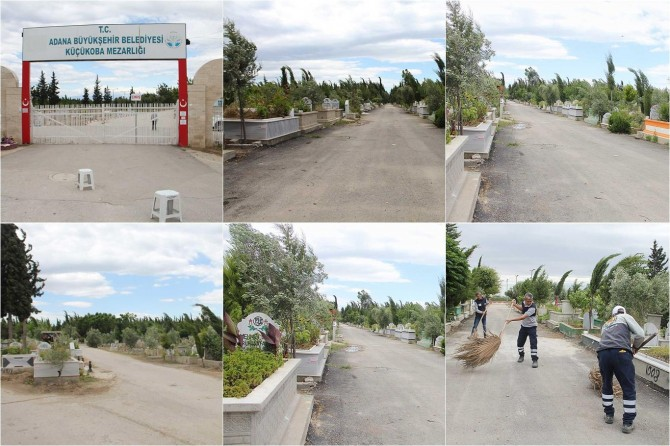 Adana'da sokağa çıkma yasağından dolayı bayramda mezarlıklarda sessizlik yaşanıyor