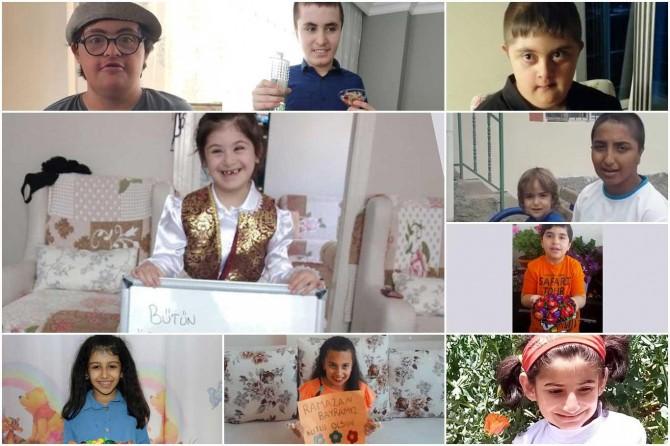 Malatya'da özel çocuklardan bayram mesajları duygulandırdı