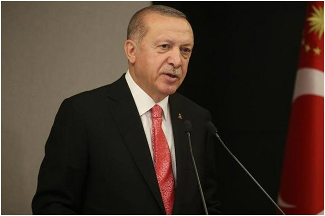 """Cumhurbaşkanı Erdoğan: """"Filistin topraklarının peşkeş çekilmesine göz yummayacağız"""""""