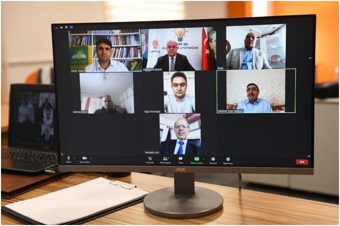 Gaziantep'te siyasi partiler video konferans aracılığıyla bayramlaştı