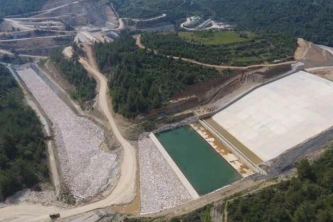 Muğla Yatağan Girme Barajı hızla yükseliyor
