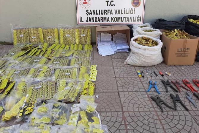 Siverek'te sahte hayvan küpesi imal eden 17 şüpheli yakalandı