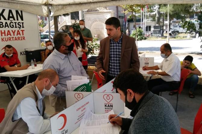 HÜDA PAR Kızıltepe İlçe Teşkilatı'ndan kan bağışı