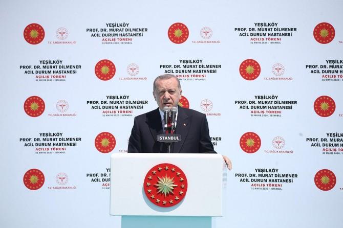 Erdoğan shares a post regarding Hadımköy Dr. İsmail Niyazi Kurtulmuş Hospital