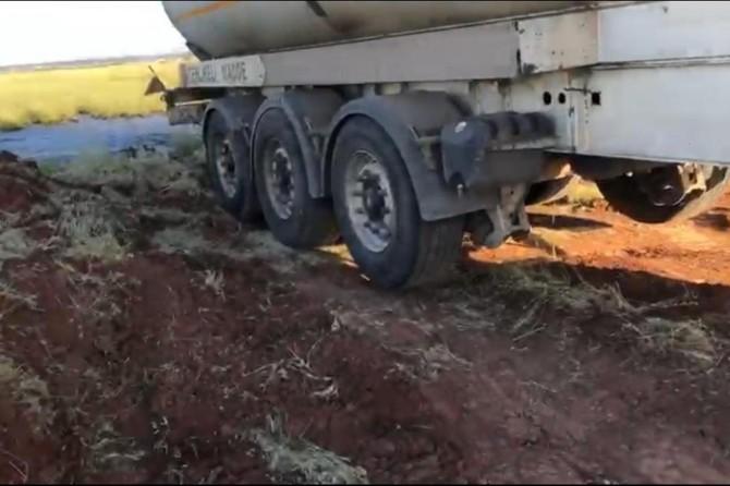 Diyarbakır'da, tarım arazisine kimyasal atık dökenler suçüstü yakalandı