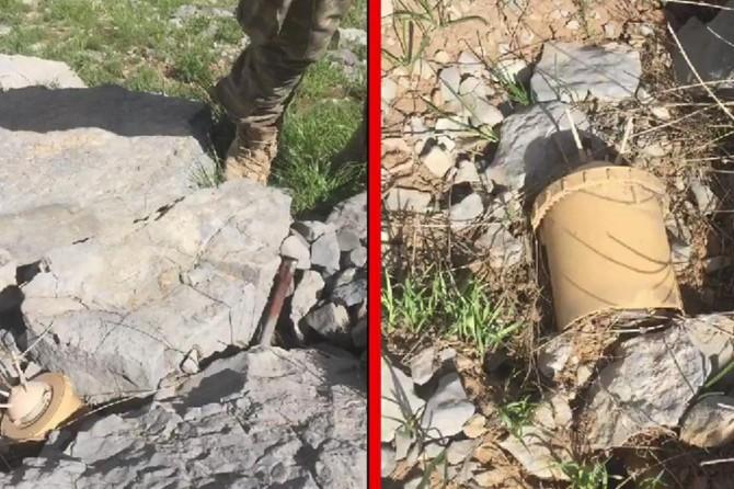 Metina bölgesinde PKK'ye ait mühimmat ele geçirildi