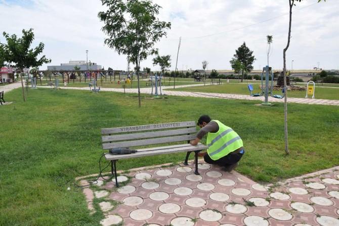 Viranşehir'de parkları normalleşme sürecine hazırlanıyor