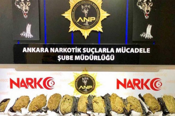 Ankara'da uyuşturucu operasyonunda 30 kilo esrar ele geçirildi