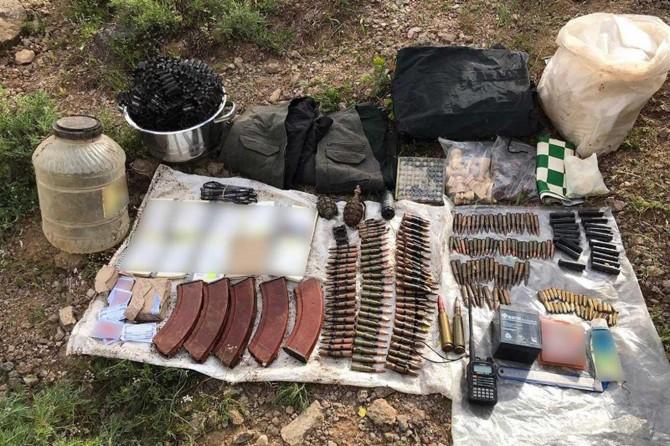 Bingöl'de PKK'ye ait mühimmat ele geçirildi