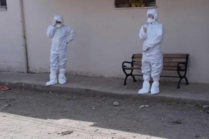 Elâzığ`da bir bina Coronavirus nedeniyle karantina altına alındı