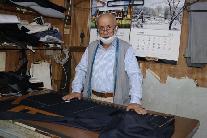 70 yaşındaki Halit usta, aylar sonra makinesinin başına geçti