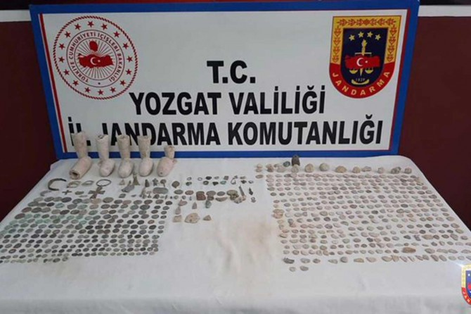 Yozgat'ta 665 adet tarihi eser ele geçirildi