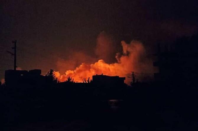 Akçakale-Telabyad sınır hattında yangın çıktı