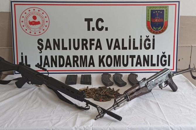 Siverek'te 2 uzun namlulu silah ve mühimmat ele geçirildi