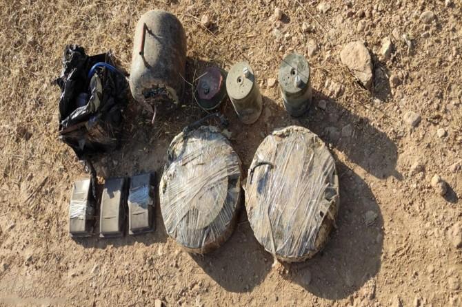 Barış Pınarı Bölgesinde 68 kilogram patlayıcı madde ele geçirildi