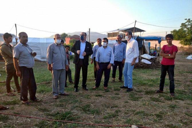  HÜDA PAR Manisa İl Başkanı Seyitoğlu, mevsimlik işçileri ziyaret etti