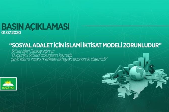 HÜDA PAR: Sosyal adalet için İslami iktisat modeli zorunludur