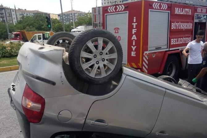 Battalgazi'de trafik kazasında 4 kişi yaralandı