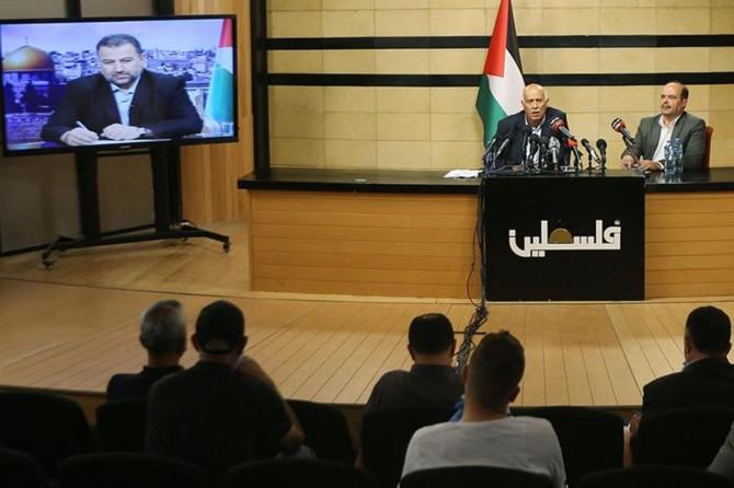 Hamas ve Fetih, işgalci siyonistlerin ilhak planına karşı ortak basın açıklaması düzenledi