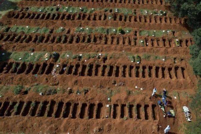 Brezilya'da son 24 saatte bin 252 kişi hayatını kaybetti