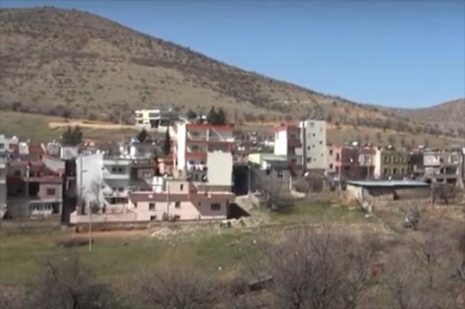 Gercüş'te Kayapınar beldesinde bir ev karantinaya alındı