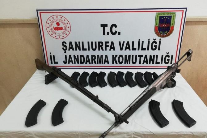 Siverek'te 2 adet uzun namlulu silah ele geçirildi