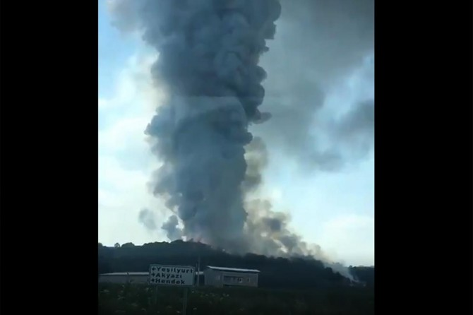 Hendek'de havai fişek fabrikasında patlama: 41 yaralı