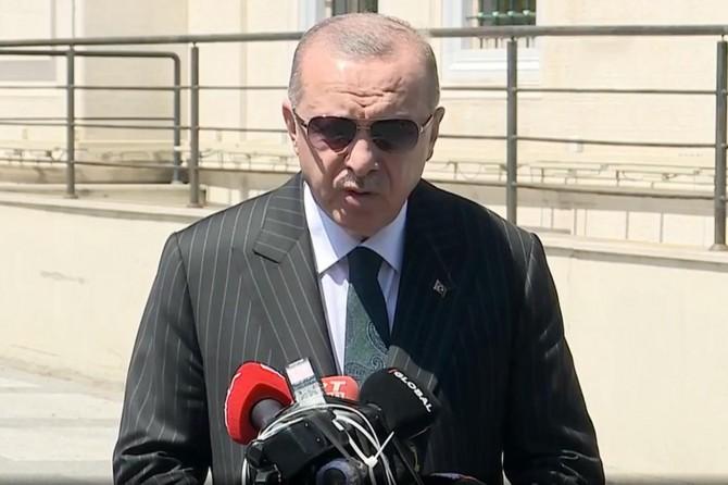 """Cumhurbaşkanı Erdoğan: """"Sakarya'daki patlama biri ağır 74 yaralımız, 2 can kaybımız var"""""""