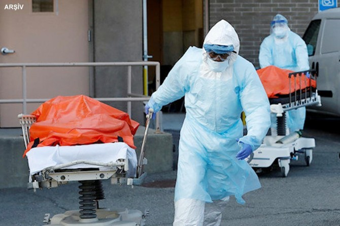 ABD'de Covid-19'dan 661 kişi daha öldü, 55 bin yeni vaka tespit edildi