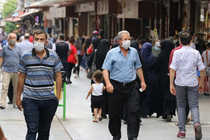 """Gaziantep'te 1857 kişiye """"sosyal mesafe ve maske"""" cezası verildi"""