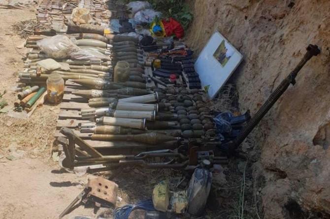 MSB: Pençe-Kaplan Operasyonunda çok sayıda silah ve mühimmat ele geçirildi