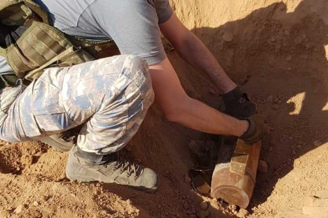 Barış Pınarı bölgesinde bulunan top mermisi imha edildi