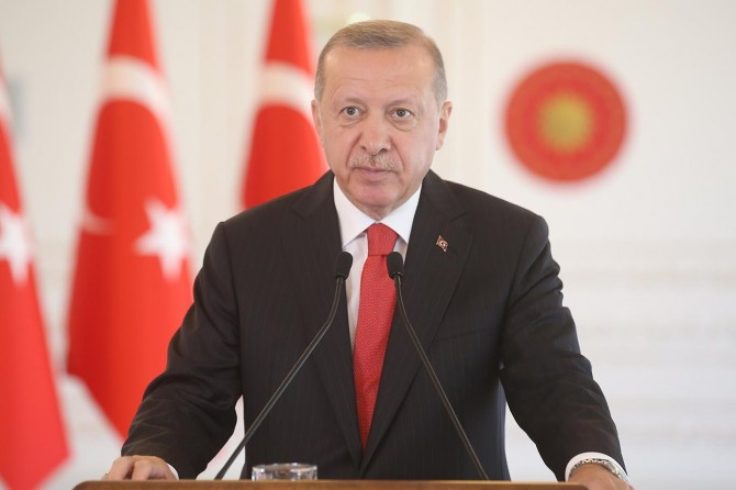 """Cumhurbaşkanı Erdoğan: """"Doğu Akdeniz'de kurulmaya çalışılan tuzakları yerle bir ettik"""""""