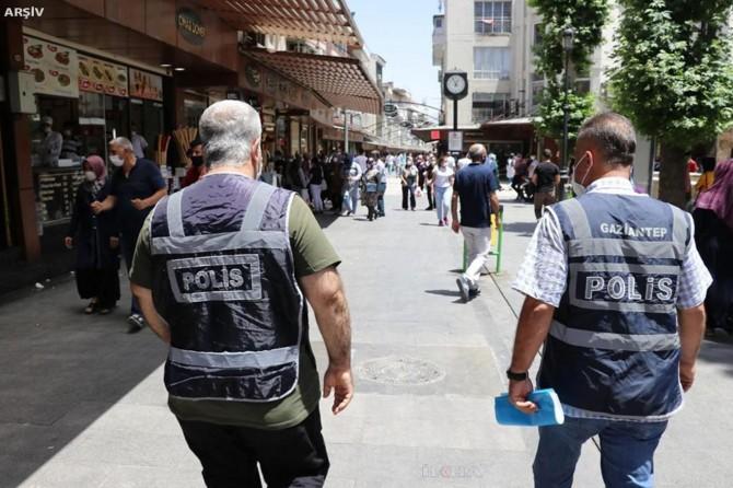 Gaziantep'te 2070 kişiye sosyal mesafe ve maske cezası verildi