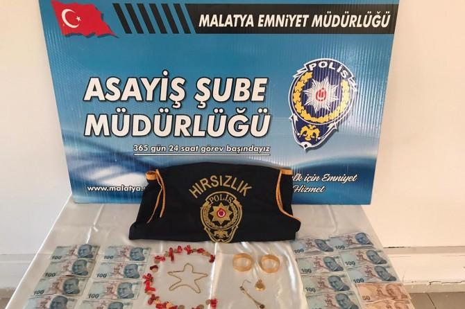 Malatya'da ziynet eşyalarını çalan şüpheli yakalandı