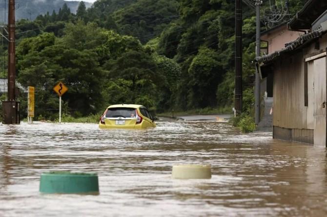 Japonya'nın güneyinde sel: 40 kişi hayatını kaybetti