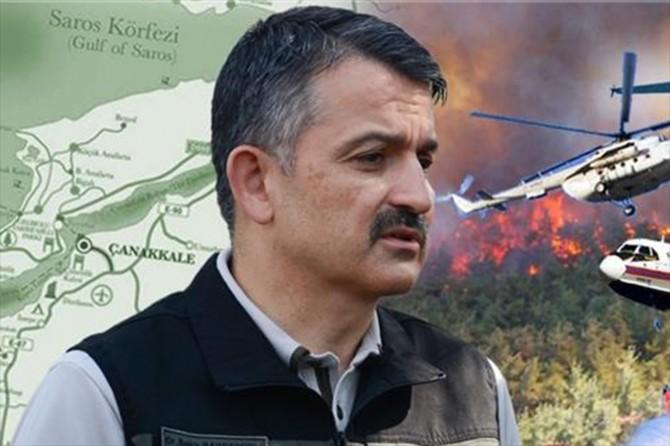 """Pakdemirli: """"Gelibolu orman yangınında şu ana kadar 450 hektar alanımız etkilendi"""""""