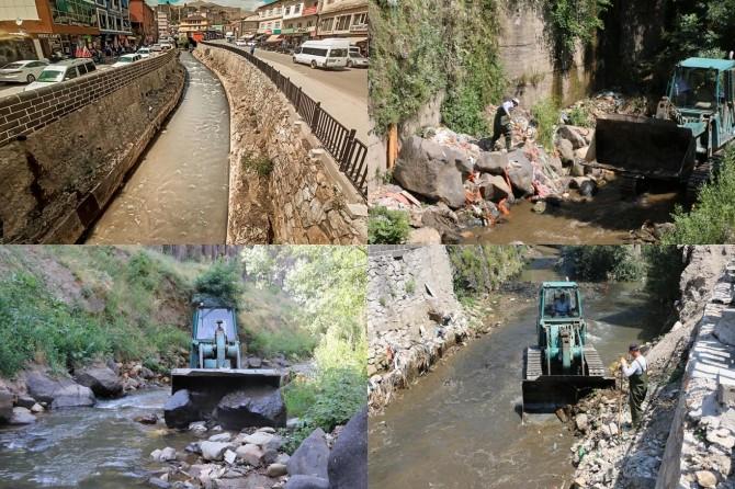 Çöplüğe dönen Bitlis Deresi'nde temizleme çalışmaları başlatıldı