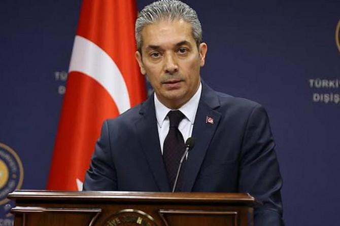 """Dışişleri Bakanlığı Sözcüsü Aksoy'dan ABD'ye """"ilkesizlik"""" tepkisi"""