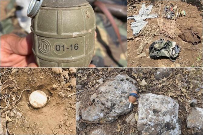 PKK'ye ait el bombası ve mühimmat ele geçirildi